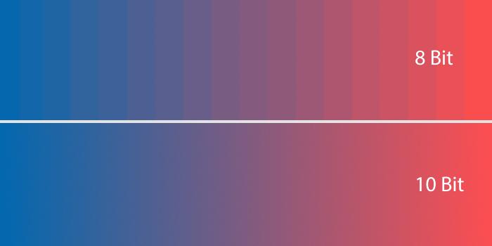 8-Bit Farben, 10-Bit Farben