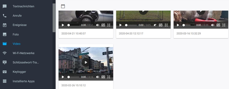 Tracken neuer Fotos, Videos